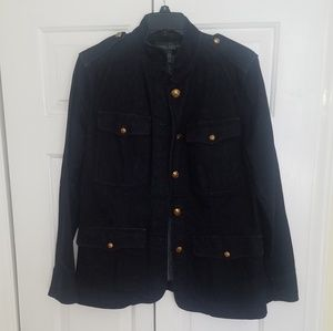 Ralph Lauren Dark Denim Military Jean Jacket